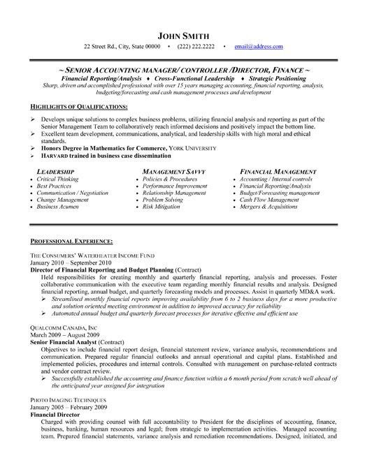 Download Senior Accountant Resume | haadyaooverbayresort.com