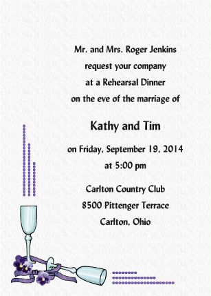 Goblets - Rehearsal Dinner Invitations