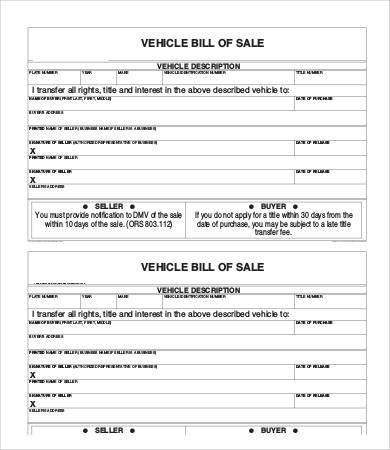 Motorcycle Bill of Sale Template - 9+ Free Word, PDF Documents ...