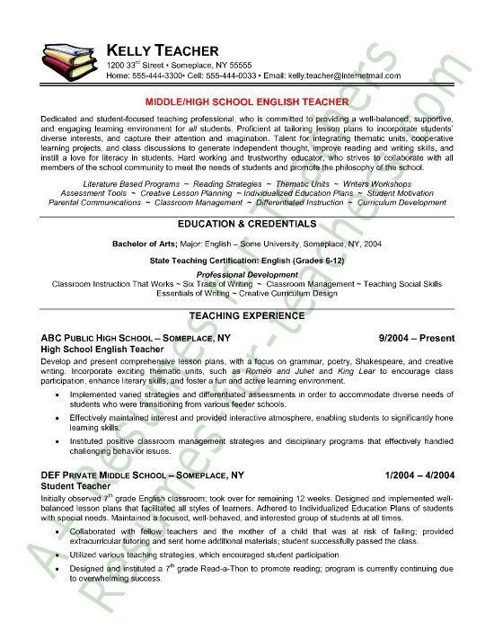 Astonishing Sample Teacher Resumes 2 Teacher Resume Samples ...