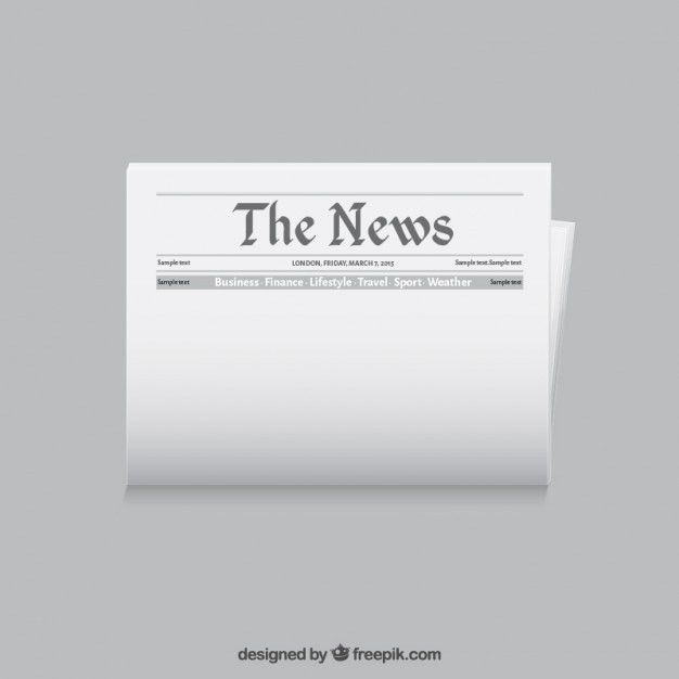 Newspaper template Vector | Free Download