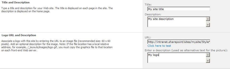 How to display the SharePoint 2010 site description