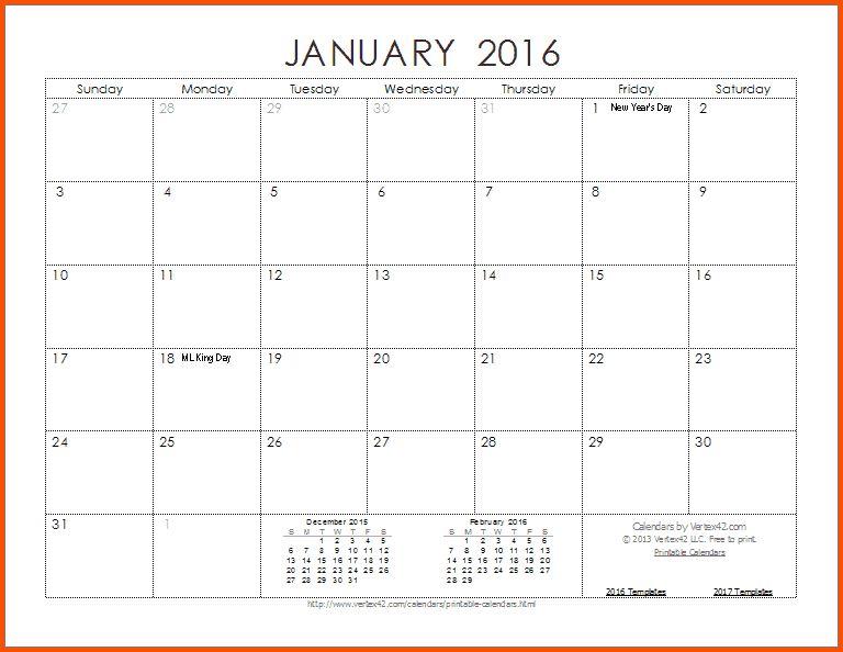 10+ 2016 calendar template   Survey Template Words