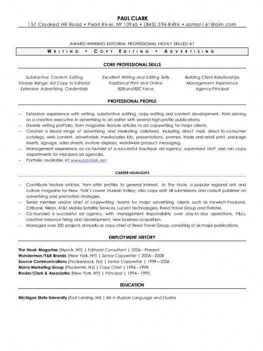 Incredible Freelance Writer Resume Sample | Resume Format Web