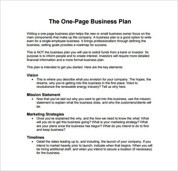 Sample Business Plan Outline Template. Sample Business Plan ...