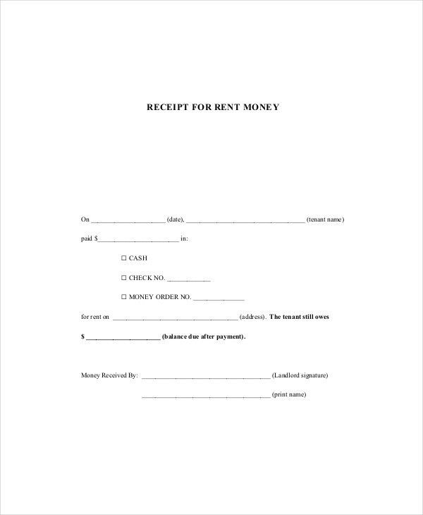 Rent Receipt Template - 8+ Free Word, PDF Documents Download ...