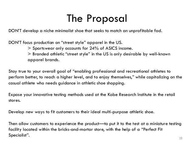 Asics Marketing-- Strategic Planning Proposal Project