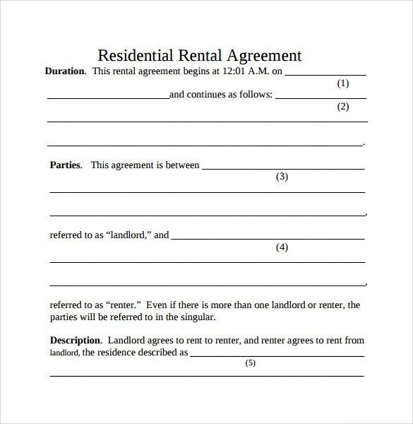 Printable Rental Contract Free Rental Forms To Print Free And – Simple Rental Agreement Example
