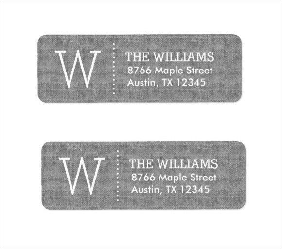 Address Label Template. Package Address Label Template Free ...