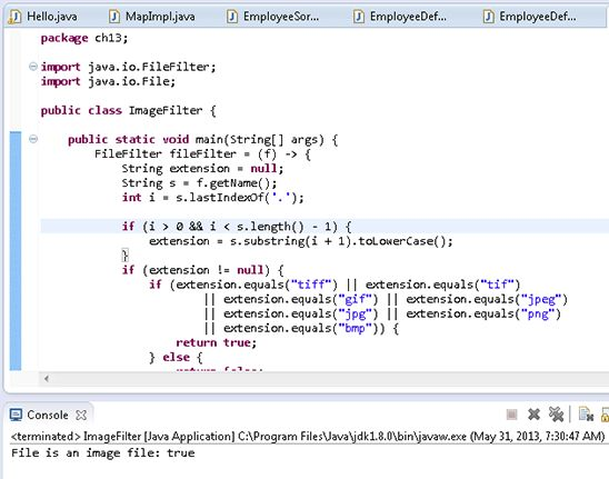Trying Out Lambda Expressions in the Eclipse IDE