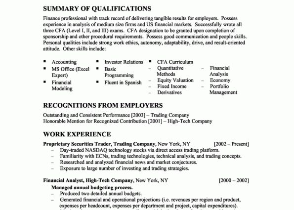 Financial Analyst Resume Example financial analyst resume sample ...