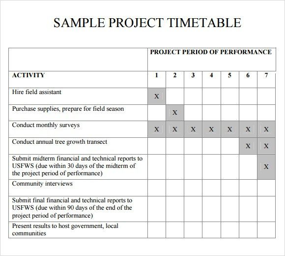 8 Free Timetable Templates - Excel PDF Formats