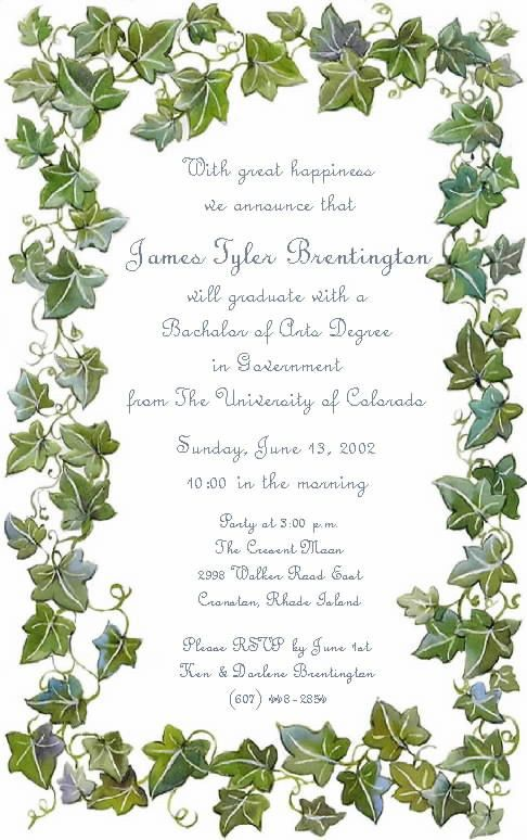 Examples Of Graduation Party Invitations which free to download ...