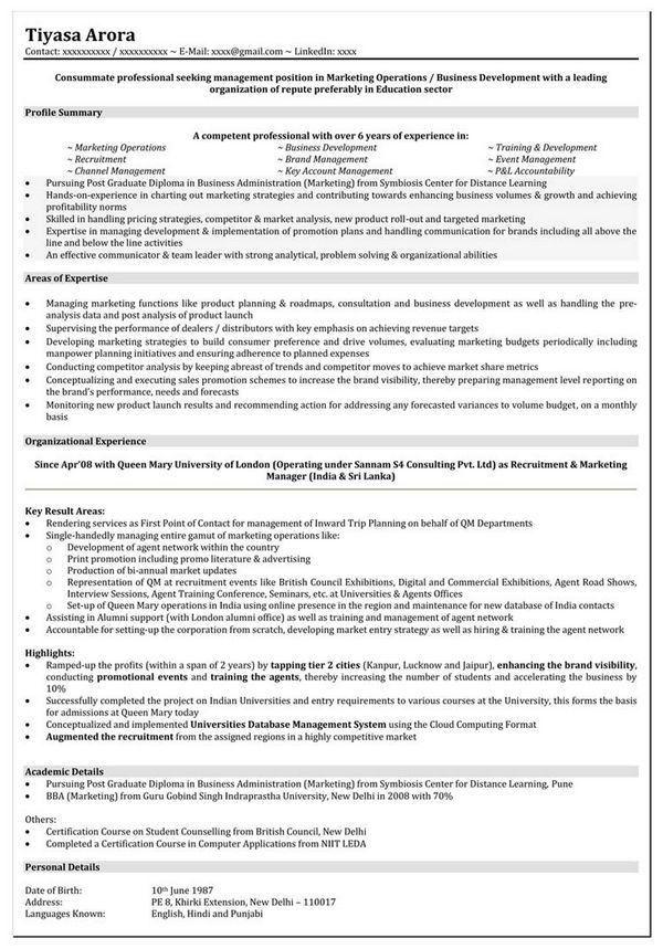 10+ Marketing Resume Template - Free Word, PDF, Samples