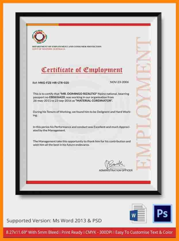 11+ sample certificate of employment | nurse resumed