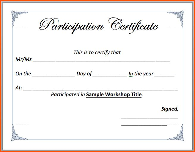 7+ certificate template word | Survey Template Words