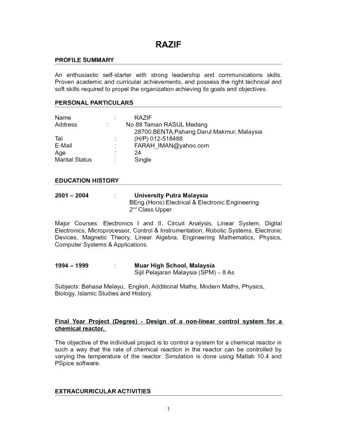 Resume Format For Lecturer Cv Cover Letter Objective Resume For ...