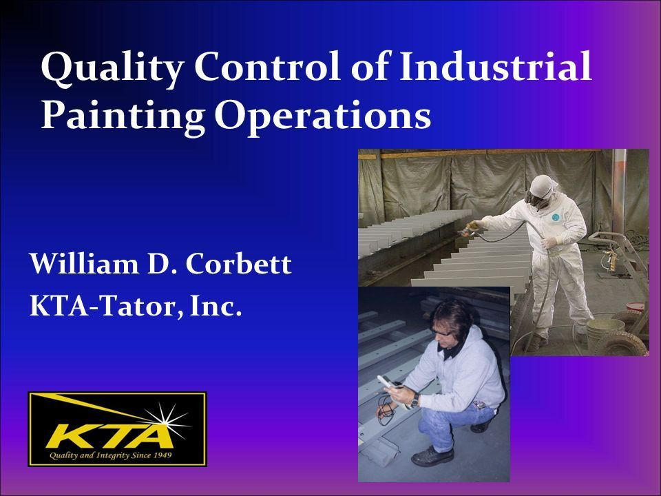 Quality Control of Industrial Painting Operations - ppt download