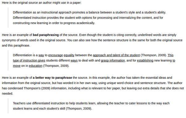 Examples of paraphrasing - Quora