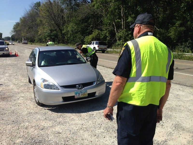 Random vehicle safety inspections Ohio Highway Patrol