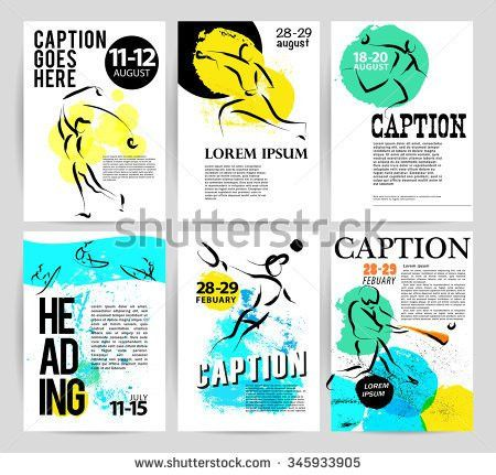 Vector Sport Advertising Template Hand Drawn Stock Vector ...
