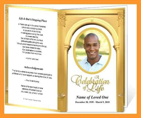 funeral obituary programs templates | sop example