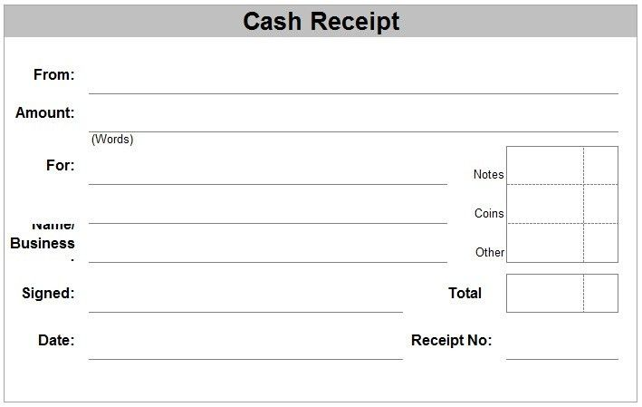 6+ Cash Receipt Templates - Word Excel PDF Templates