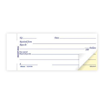 Blueline® Duplicates Rent Receipt Book Carbonless Copy - Bilingual ...