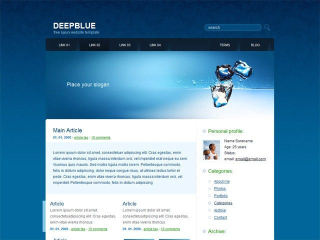 Free web templates for download