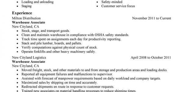 Bunch Ideas of Sample Resume Warehouse Skills List With Additional ...
