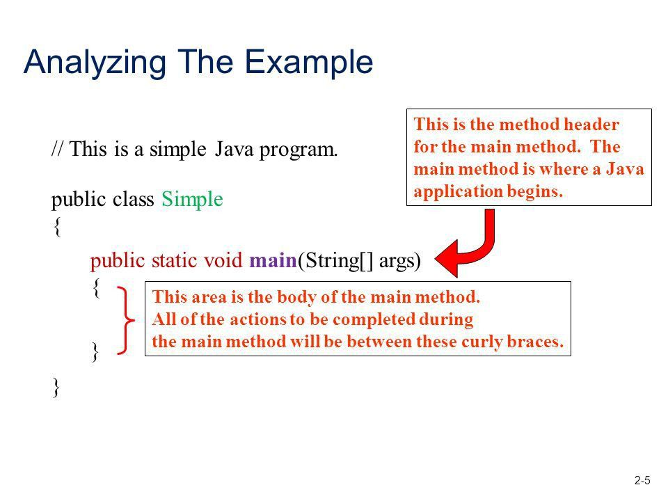 Java Fundamentals Part Topics –Simple java program –The print and ...