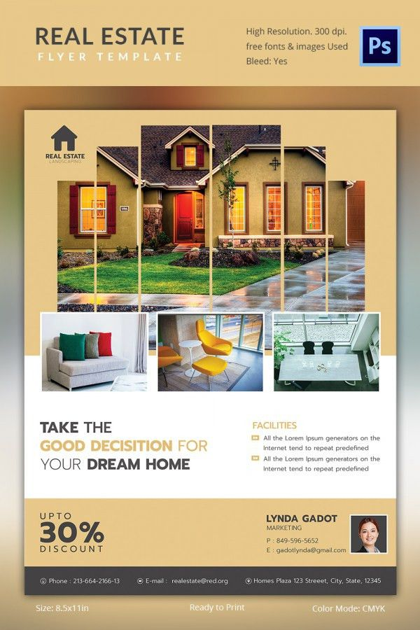 Realtor Brochure Template. Provides Free Design Templates For ...
