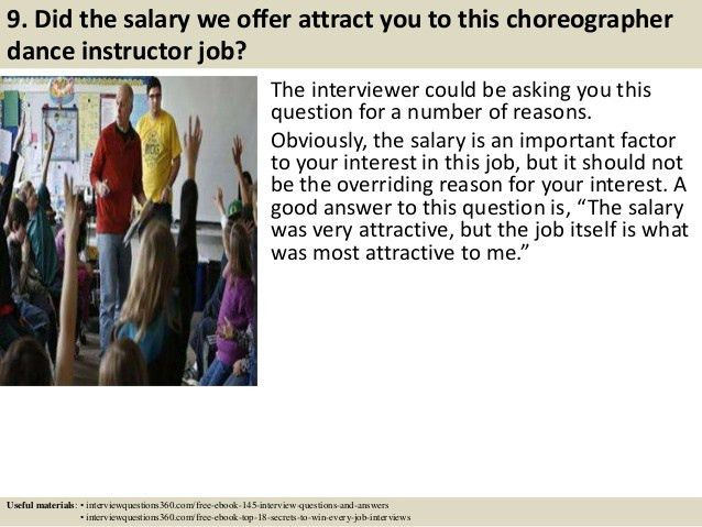 Top 10 choreographer dance instructor interview questions and answers