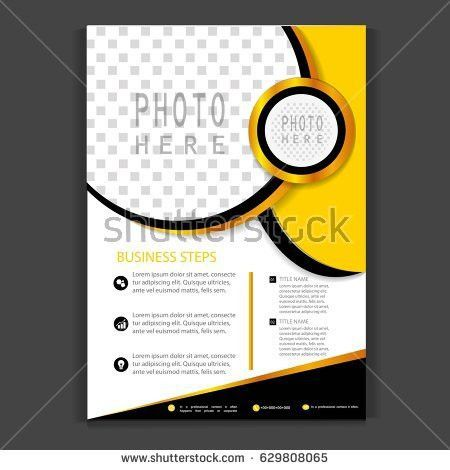 Brochure Template Flyer Design Vector Background Stock Vector ...