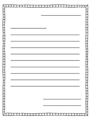 Letter Writing Template | Best Template Examples