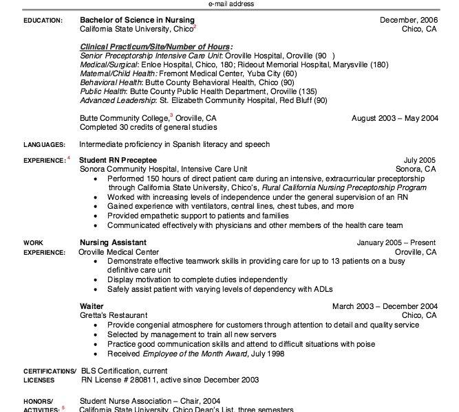 39+ [ New Grad Nursing Resume ] | Nursing Resume Objective ...