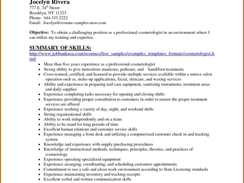 Exclusive Ideas Cosmetology Resume Examples 16 Hairstylist Resume ...