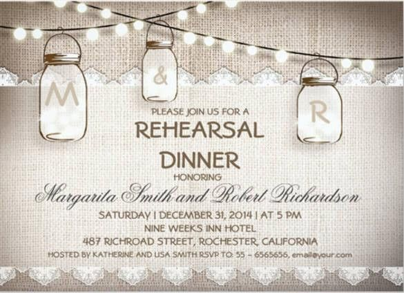 Rehearsal Dinner Invitation Template | HASKOVO.ME