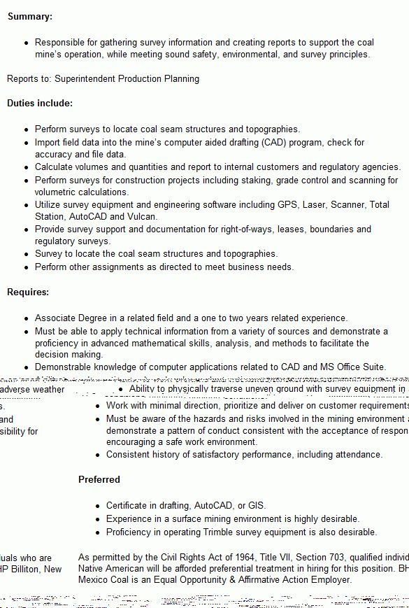 Survey Technician Cover Letter