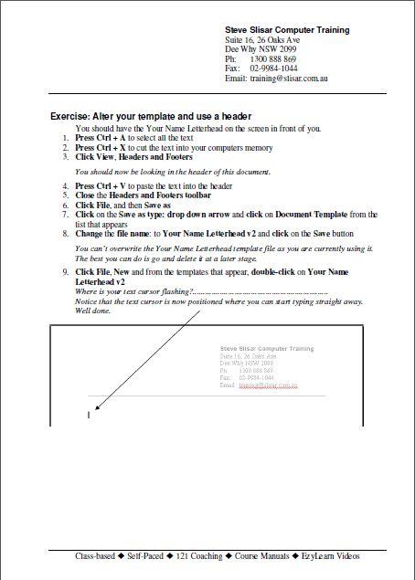Microsoft Word Training Courses - 9 courses, 9 workbooks, exercise ...