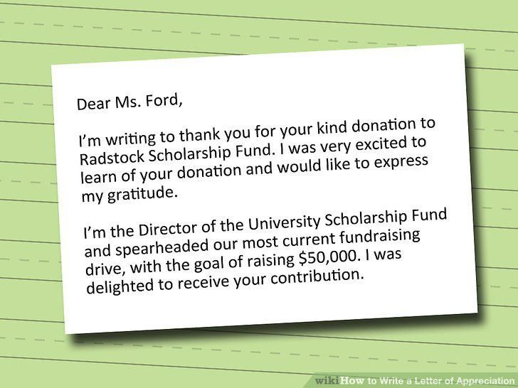 Fund Raiser Thank You Letter Sample. Sample Thank You Letter For ...