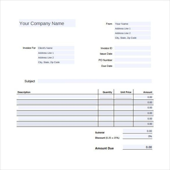 Roofing Invoice Template. Auto Repair Invoice Template Sample Auto ...