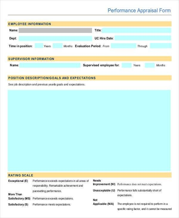 9+ Employee Review Forms - Free Sample, Example, Format | Free ...