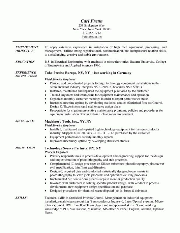 Example Engineering Resume – Resume Examples