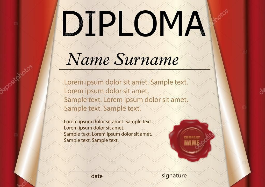Diploma or certificate template. Award winner. Winning the ...