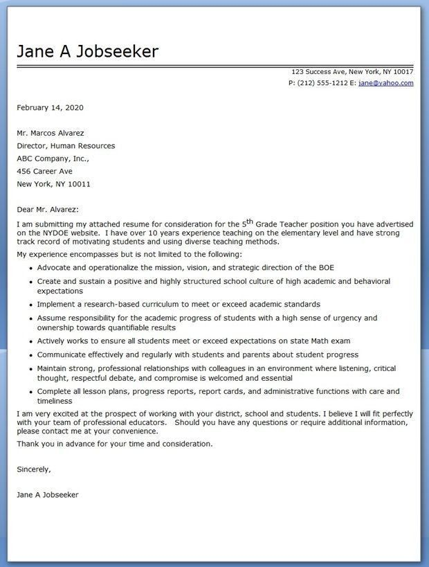 english teacher cover letter template resume genius. cover letter ...