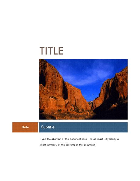 Business report (Median theme) - Office Templates