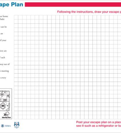 Fire Escape Plan Template, Home Fire Escape Plan And Printable ...