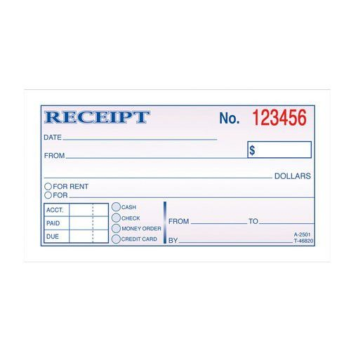 Adams 2-Part Carbonless Money/Rent Receipt Book - Walmart.com