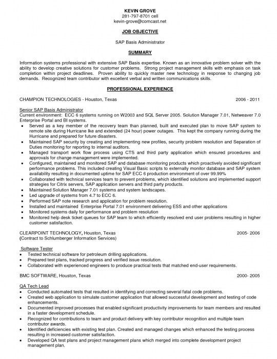 Elegant Sap End User Resume | Resume Format Web